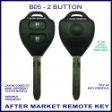 B05 2 button B-Series standard transmitter fixed blade TOY-43 key