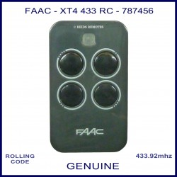 FAAC XT4 433 RC 787456 grey 4 button gate remote control