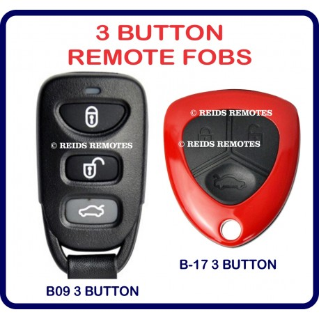Generic 3 button remote fob options