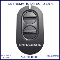 Entrematic Ditec 4 Zen genuine swing & sliding gate remote control