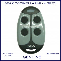 SEA Coccinella Uni - 4 button grey and black gate remote