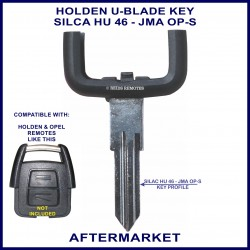 Holden u-blade key to fit Astra or Vectra remote head