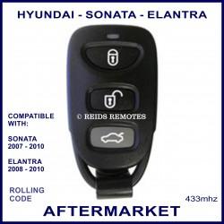 Hyundai Elantra & Sonata 3 button remote fob