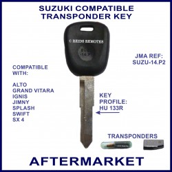 Suzuki Alto Grand Vitara Ignis Jimny Swift SX4 compatible car key with transponder cloning & key cutting