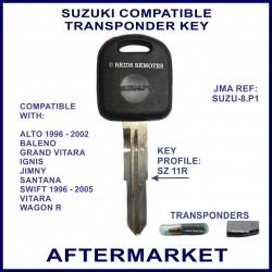 Suzuki Alto Baleno Grand Vitara Ignic Jimny & Swift compatible car key with transponder cloning & key cutting
