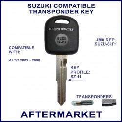 Suzuki Alto 2002-2008 compatible car key with transponder cloning & key cutting