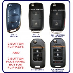 Generic 2 button flip keys - 5 styles to choose from