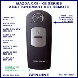 Mazda CX5 genuine 2 button smart key remote KDY5 675DY - X1T6919H