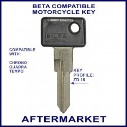 Beta Chrono - Quadra & Tempo motorcycle key - non-transponder type