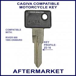 Cagiva River 600 motorcycle key - non-transponder type