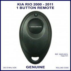 Kia Rio 2000 - 2011 models 1 button oval genuine remote control