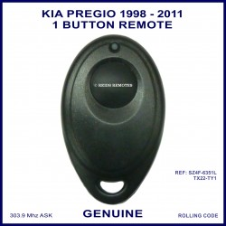 Kia Pregio 1998 - 2011 models 1 button oval remote control