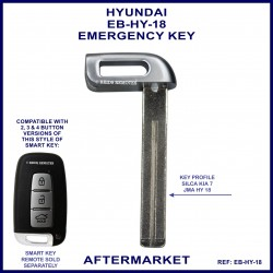 Hyundai emergency key blade for smart remote proximity key HY18