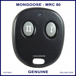 Mongoose M80 Series N4096 Z333 2 button car alarm remote control