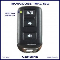 Mongoose M60 Series N4096 Z333 3 button car alarm remote control MRC63G