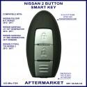 Nissan Pulsar B17 -Qashqai J11 & X-Trail T32 2 button smart proximity key aftermartket
