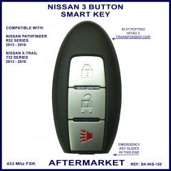 Nissan 3 button smart key - Pathfinder R52 & X-Trail T32 2013 onward