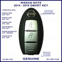 Nissan Note 2nd gen 2014 - 2016 2 button smart key genuine TWB1G662