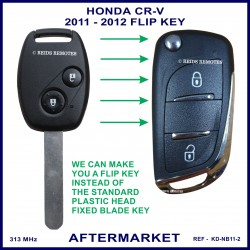 Honda CR-V 2011 - 2012 2 button remote flip key key aftermarket