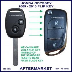 Honda Odyssey 2009 - 2013 2 button remote flip key key aftermarket