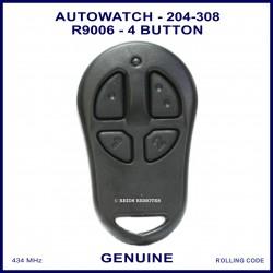 Auto Watch 204-308 R9006 SRD 1e  4 button black car alarm remote control FCC ID OXC-204