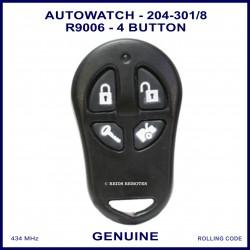 Auto Watch 204-301 R9006 SRD 1e  4 button black car alarm remote control FCC ID OXC-204