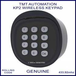 TMT Automation KP2-4182-001 wireless keypad transmitter for swing or sliding gate