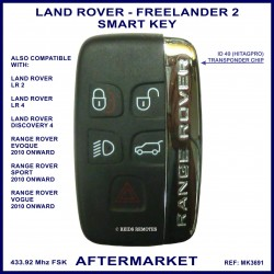 Land Rover Freelander 2 - aftermarket 5 button smart proximity key 433 MHz