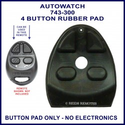 Auto Watch 743-300 4 button car alarm remote replacement button pad only