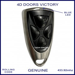 4D Doors Victory 4 button garage door remote with blue LED