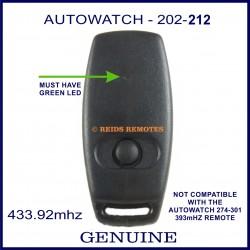 Auto Watch 202-002 1 button black car alarm remote control