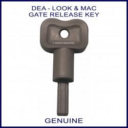 DEA Look & Mac swing gate manual release key