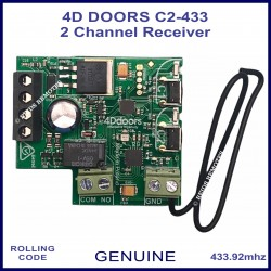 4D Doors C2-433 Mhz 2 channel 4 pin receiver card